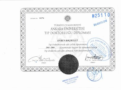 Tıp Doktorluğu Diploması